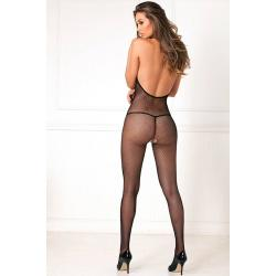 Halter Fishnet Bodystocking O/S