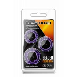 STAY HARD BEADED COCKRINGS PURPLE