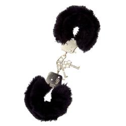 Metal Handcuff with Plush Black