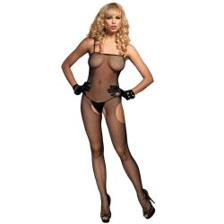 728672 FISHNET SUSPENDER BODYSTOCKING O/S BLK