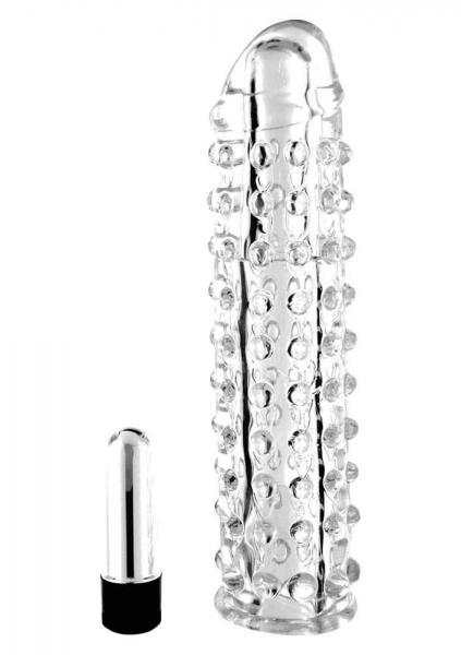 Silikon Vibro Penis Sleeve 16cm m. Vibr.