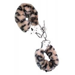 LOVE CUFFS LEOPARD PLUSH