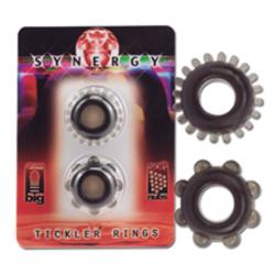 Synergy Tickler Rings Color Black. Set of 2 rings black. Sof