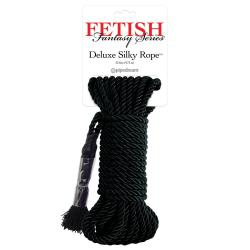 Fetish Fantasy Series  Deluxe Silky Rope Black