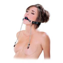 FF EXTREME DELUXE BALL GAG & NIPPLE