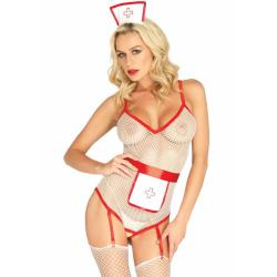 3PC. Nurse roleplay set, white, O/S