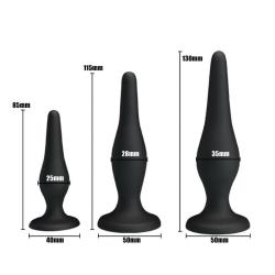 Silicone Butt Plug, 3 different sizes in One,  for beginner
